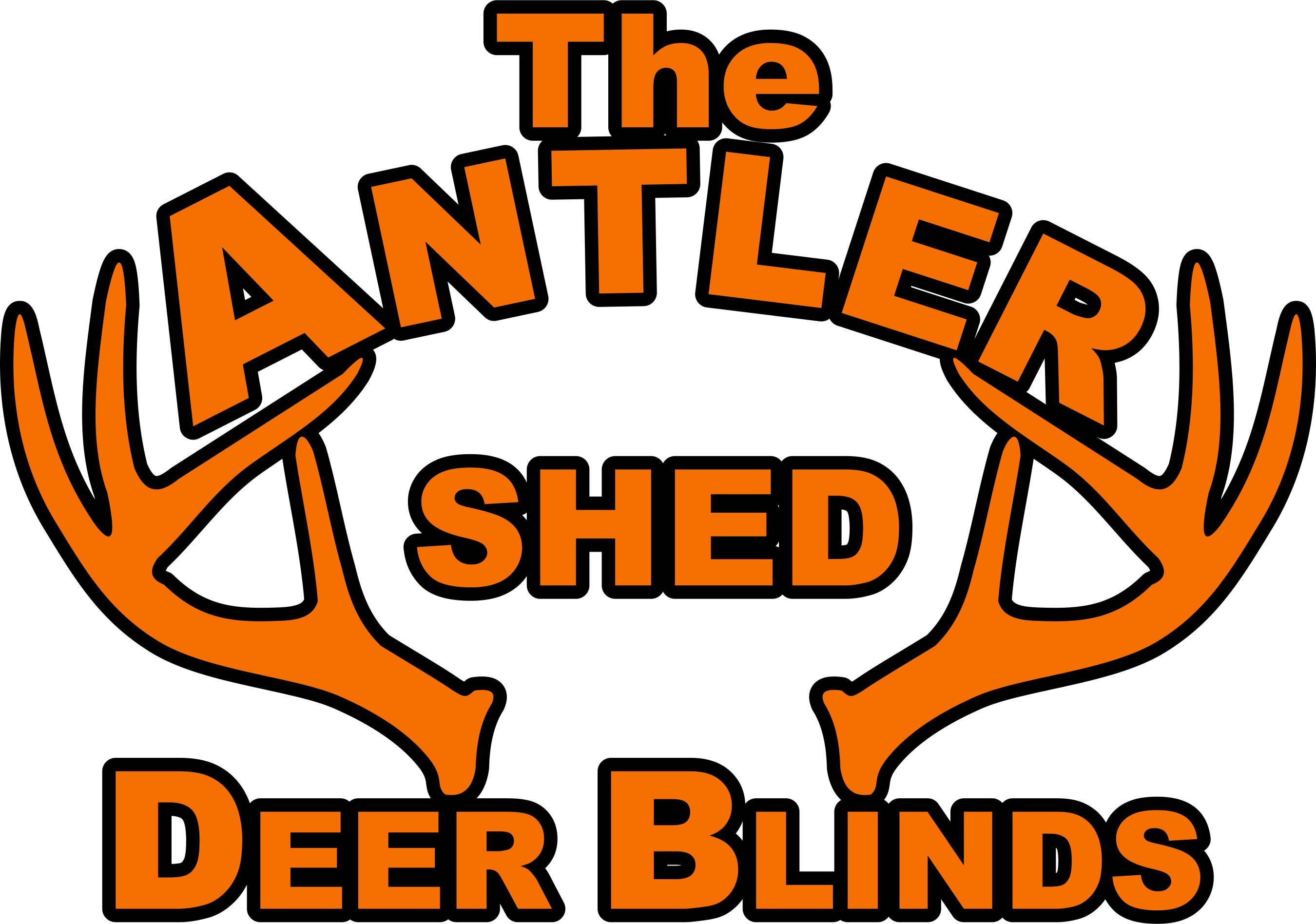 Antler Shed - Logo Outlined